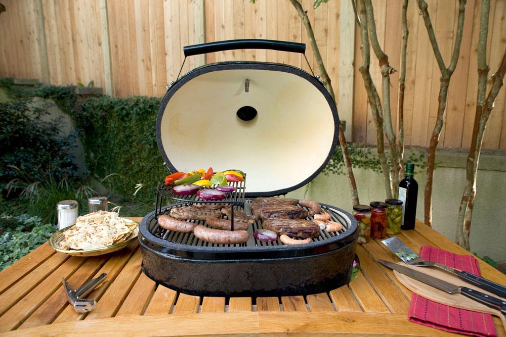 Barbecue ovale Primo Grill en céramique