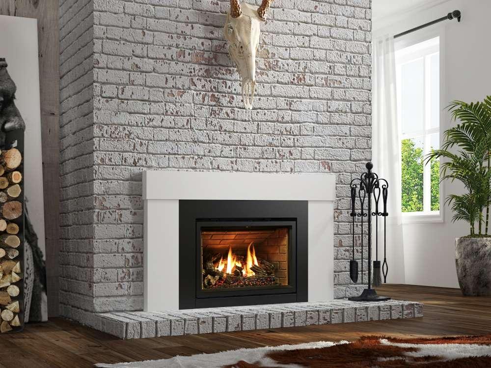 Foyer encastrable au gaz. Les avantages du gaz et la beauté de la maçonnerie