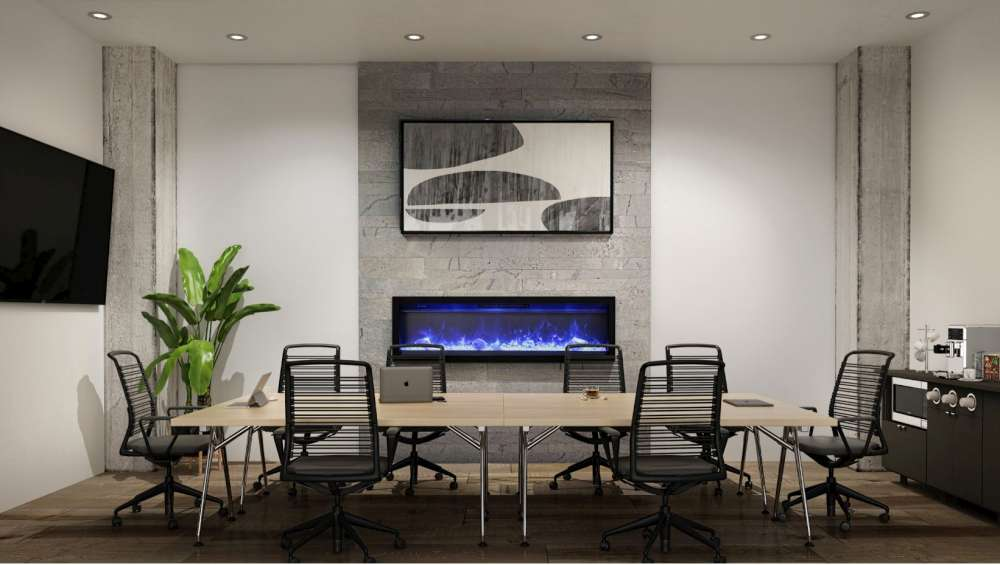 Ambiance IW50 Electric Fireplace Blue Flame