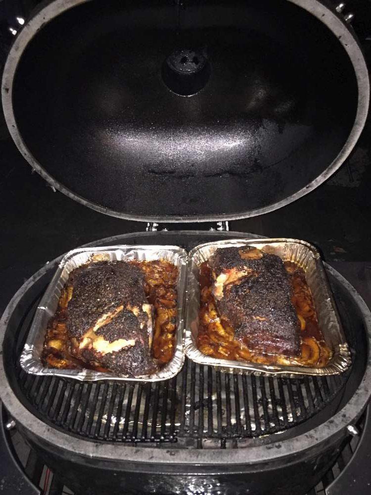 Placez la casserole sur le gril.