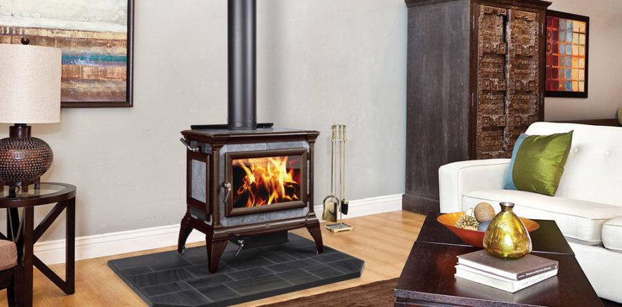 cinq bonnes raisons de choisir des po les bois en pierre. Black Bedroom Furniture Sets. Home Design Ideas