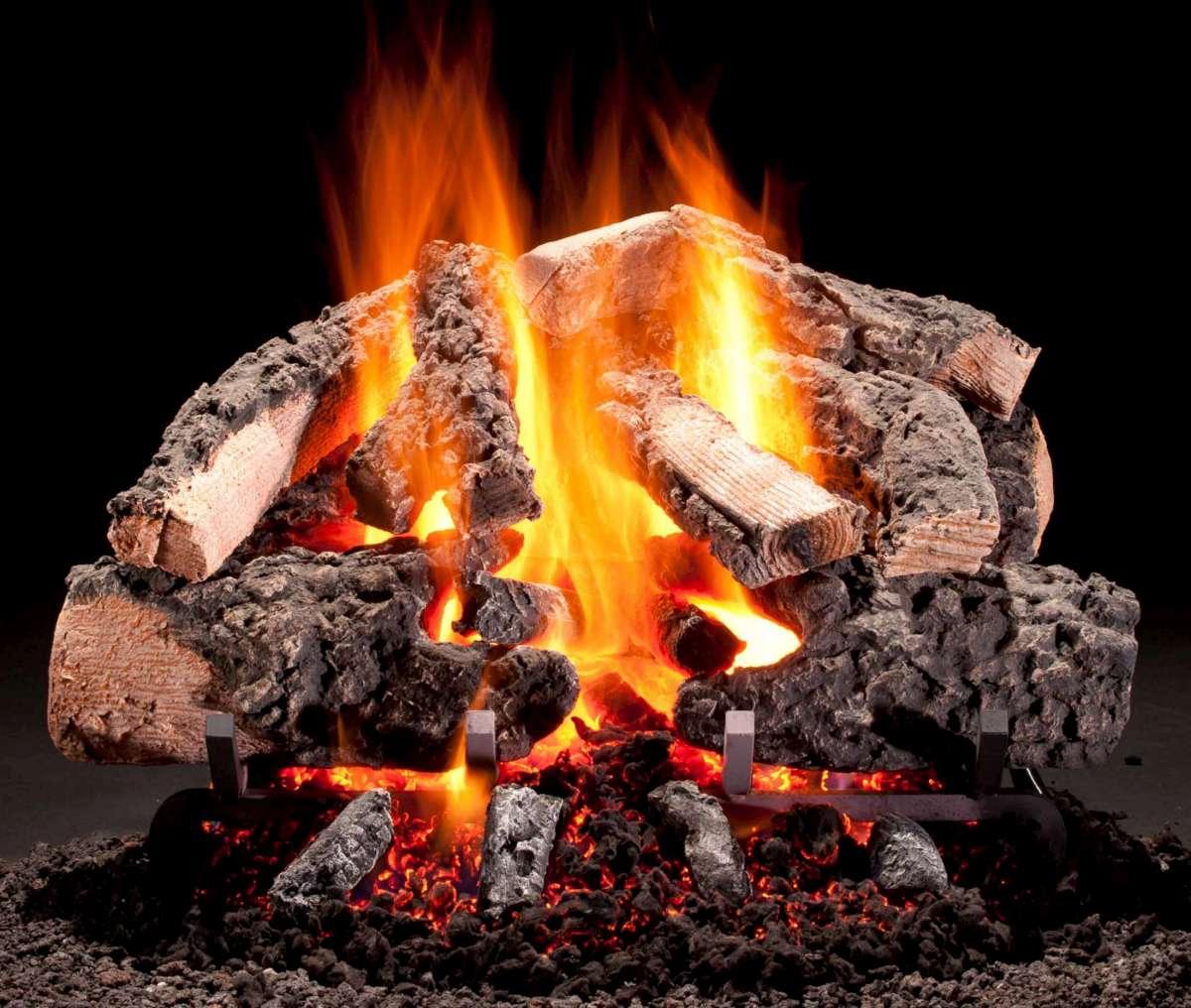 Hargrove Premium Products Rustic Timbers Cropped bûches à gaz – Passion Feu