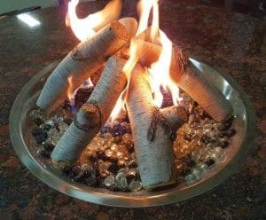 Enhance a Fire bûches bouleau Huron foyer extérieur – Passion Feu