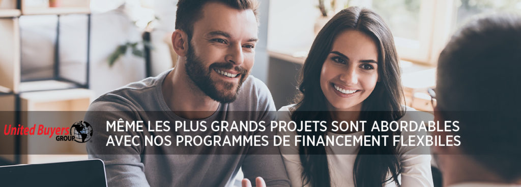 Options de financement souples pour membres United Buyers Group