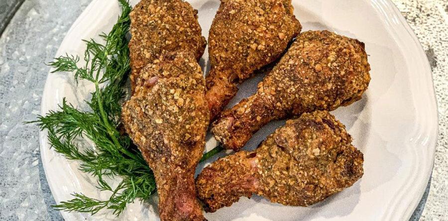 Pilons de poulet «frits» sur le barbecue