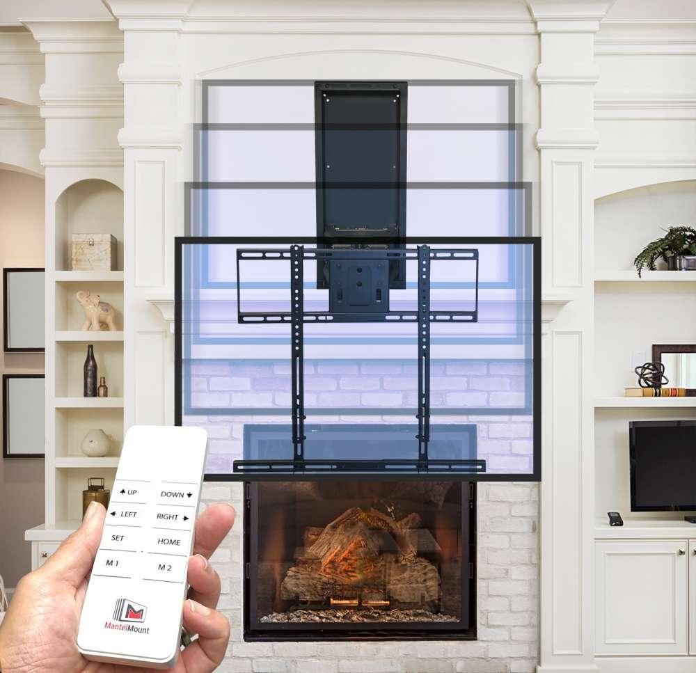Support de télévision mural automatisé de Mantelmount MM860 avec télécommande, en un seul clic, Est-il sécuritaire de mettre ma télévision au dessus du foyer?