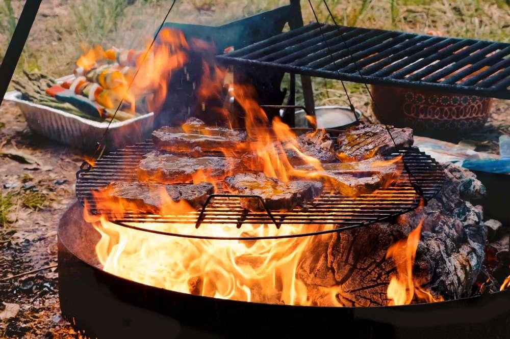 """Que dite-vous d'un festin en forêt? Comment cuisiner sur votre foyer extérieur? Cuisiner sur votre """"pit à feu"""" à la maison ou en camping!"""