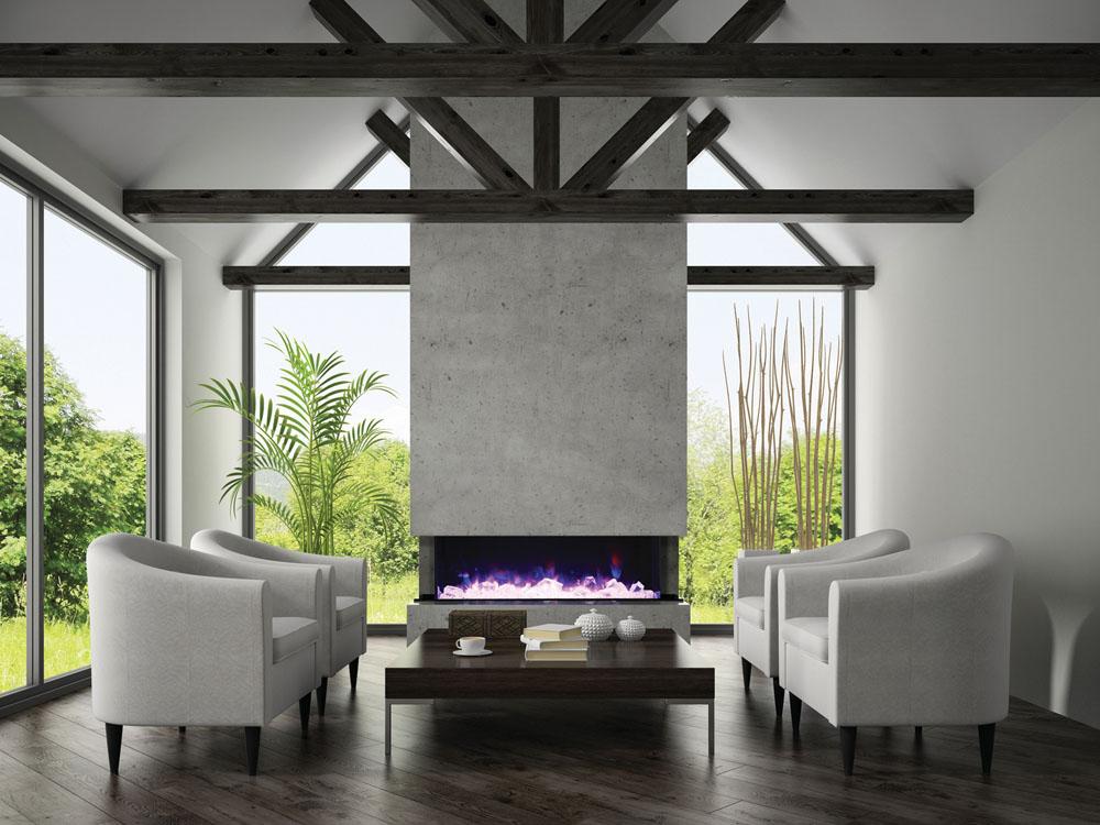 Magestueux foyer électrique Tru-View XL par Amantii. Les foyers électriques sont-ils coûteux à utiliser?